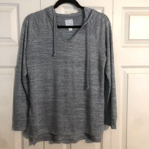 SUNDAY Small Blue Shimmer Heather Hooded Sweater